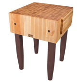PCA Butcher Block with Knife Holder, Walnut Stain, Multiple Sizes Available
