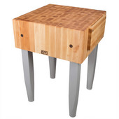 PCA Butcher Block with Knife Holder, Slate Gray, Multiple Sizes Available