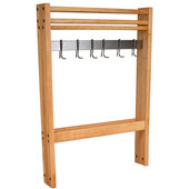Maple Pro Prep Pot Rack, 24''W - 36''W (Comes with 4 Hooks)