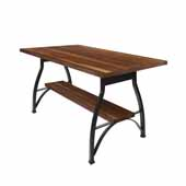 Foundry Collection 42'' Pub Bar Height Table, American Black Walnut Wood Top With Wrinkle Black Base, 84''W x 36''D x 42''H