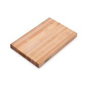 Platinum Board Cutting Board Northern Hard Rock Maple, Edge Grain, 18'' W x 12'' D x 1-3/4'' Thick, Reversible w/ Recessed Finger Grips, Boos Block Cream Finish w/ Beeswax