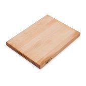 Platinum Board Cutting Board Northern Hard Rock Maple, Edge Grain, 20'' W x 15'' D x 1-3/4'' Thick, Reversible w/ Recessed Finger Grips, Boos Block Cream Finish w/ Beeswax