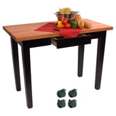 Le Classique Work Table, Varnique, with Casters and Drawer, 60'' W x 24'' D x 35''H