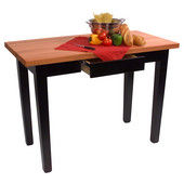 Le Classique Work Table, Varnique, with 2 Drawers, 60'' W x 24'' D x 35''H