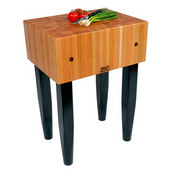Le Block Butcher Block Work Station with 10'' Thick American Cherry Top, Available in Numerous Sizes