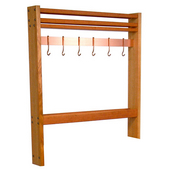 Cherry Pro Prep Pot Rack, 30''W (Comes with 6 Hooks)