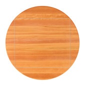 American Cherry Premium Butcher Block Table Top, 4-Corner Drop Leaf, Double Radius Edge, 60''Dia.; 4CDL: 42''W x 42''D, 1-1/2'' Thick