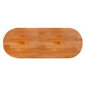 American Cherry Blended Butcher Block Table Top, Jointed Edge Grain Construction, Oval, 1/4'' Radius Edge, 48''W x 36''D x 1-1/2'' Thick