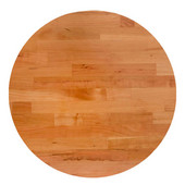 American Cherry Blended Butcher Block Round Table Top, Jointed Edge Grain, Double Radius Edge, 42''Diameter x 1-1/2'' Thick