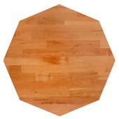 American Cherry Blended Octagonal Butcher Block Table Top, Jointed Edge Grain, 1/4'' Radius Edge, 42''Diameter x 1-1/2'' Thick