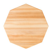42'' Northern Hard Rock Maple Premium Butcher Block Table Top, Octagonal, 1/4'' Radius Edge, Available in Various Sizes