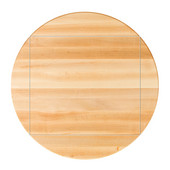 Northern Hard Rock Maple Premium Butcher Block Table Top, 4-Corner Drop Leaf, Double Radius Edge, 60''Dia.; 4CDL: 42''W x 42''D, 1-1/2'' Thick