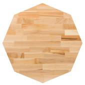 Northern Hard Rock Maple Blended Octagonal Butcher Block Table Top, Jointed Edge Grain, 1/4'' Radius Edge, 42''Diameter x 1-1/2'' Thick