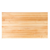 Northern Hard Rock Maple Butcher Block Edge Grain Table Top, Rectangular, 1/4'' or Double Radius Edge, 24''D, Multiple Sizes Available