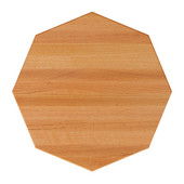 Oak Butcher Block Table Top, Octagonal, 1/4'' Radius Edge, Natural, Available in Various Sizes