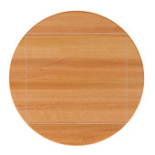 Appalachian Red Oak Butcher Block Table Top, 4- Corner Drop Leaf, Stainable, Double Radius Edge, 60'' Dia.; 4CDL - 42''W x 42''D x 1-1/2'' Thick