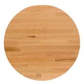 Appalachian Red Oak Blended Butcher Block Round Table Top, Jointed Edge Grain, Double Radius Edge, 36''Diameter x 1-1/2'' Thick
