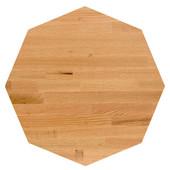 Appalachian Red Oak Blended Octagonal Butcher Block Table Top, Jointed Edge Grain, 1/4'' Radius Edge, 42''Diameter x 1-1/2'' Thick