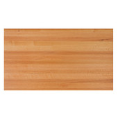 Appalachian Red Oak Butcher Block Edge Grain Table Top, Rectangular, 1/4'' or Double Radius Edge, 36''D, Natural, Various Sizes Available