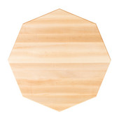 Soft Maple Butcher Block Table Top, Octagonal, Flat Grain, 1/4'' Radius Edge, Various Sizes Available