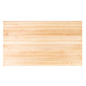 Soft Maple Butcher Block Table Top, Rectangular, Flat Grain, 1/4'' or Double Radius Edge, 36''D, Available in Multiple Sizes
