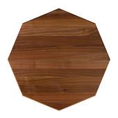 42'' American Black Walnut Premium Butcher Block Table Top, Octagonal, 1/4'' Radius Edge, Multiple Sizes Available