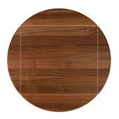 American Black Walnut Premium Butcher Block Table Top, 4-Corner Drop Leaf, Double Radius Edge, 52''Dia.; 4CDL: 36''W x 36''D, 1-1/2'' Thick