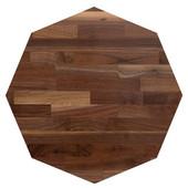 American Black Walnut Blended Octagonal Butcher Block Table Top, Jointed Edge Grain, 1/4'' Radius Edge, 42''Diameter x 1-1/2'' Thick