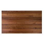 American Black Walnut Butcher Block Table Top, Rectangular, 1/4'' or Double Radius Edge, 36''D, Available in Numerous Sizes