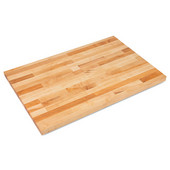 SC Series Commercial Grade 1-3/4'' Thick Hard Rock Maple Blended Bakers Table Top, Non-Reversible, 132'' W x 48'' D, Varnique Finish