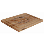 Maple Slicer Cutting Board with Groove, Tree Pattern Moat and Stainless Pins
