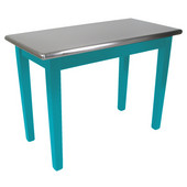 Kitchen Island Cucina Moderno with Stainless Steel Top, 48'' x 24'', Caribbean Blue