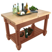 Tuscan Isle Boos Block, 54'' or 72'' W x 32'' D x 36''H, Cherry Stain