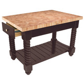 Tuscan Isle Maple End Grain Boos Butcher Block Kitchen Island, 54'' W x 32'' D x 36''H