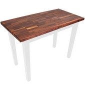 Blended Walnut Classic Country Work Table, 48'' or 60'' W x 30'' D x 35''H, Alabaster