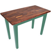 Blended Walnut Classic Country Work Table, 48'' or 60'' W x 36'' D x 35''H, Basil