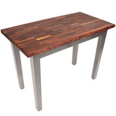 Blended Walnut Classic Country Work Table, 48'' or 60'' W x 30'' D x 35''H, Useful Gray Stain