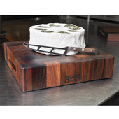 Chopping Block Collection Reversible 12'' L x 12'' W x 3'' Cutting Board with Grips, Walnut End Grain