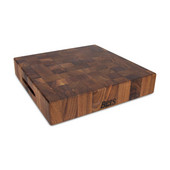 Chopping Block Collection Reversible 15'' L x 15'' W x 3'' Cutting Board with Grips, Walnut End Grain
