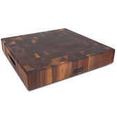 Chopping Block Collection Reversible 18'' L x 18'' W x 3'' Cutting Board with Grips, Walnut End Grain