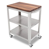 Cucina Culinarte Kitchen Cart w/ Removable Walnut Top, 30'' W x 18-1/8'' D x 36-5/16''H