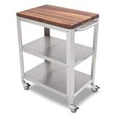 Cucina Culinarte Kitchen Cart w/ Removable Walnut Top, 30'' W x 18-1/8'' D x 36-5/16''H