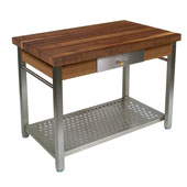 Walnut Cucina Grande Kitchen Work Table, 60'' W x 28'' D x 35''H