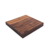 Black American Walnut Rustic-Edge Design Reversible Cutting Board, 13''W x 12''D x 1-3/4''H