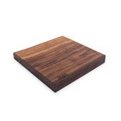 Black American Walnut Rustic-Edge Design Reversible Cutting Board, 13''W x 12''D x 1-3/4''H