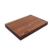 Black American Walnut Rustic-Edge Design Reversible Cutting Board, 17''W x 12''D x 1-3/4''H