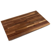 1-3/4'' Thick American Black Walnut Blended Butcher Block Island Countertop 84'' W x 30'' D, Varnique Finish