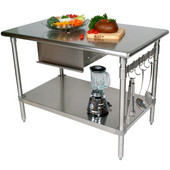 Cucina Forte Stainless Steel Work Table, 48'' W, 24'' or 30'' Depths Available