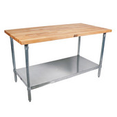 Cucina Grandioso with Maple Top & S/S Shelf, Without Pot Rack, Multiple Sizes Available