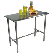 Cucina Classico Work Table, 48'' W, Stainless Steel, Different Depths Available